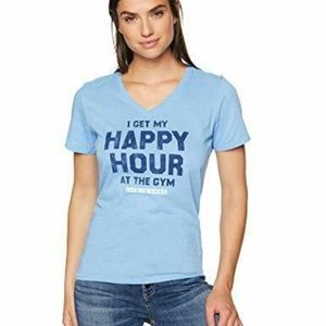 Life is Good Womens T-Shirt Happy Hour at the Gym